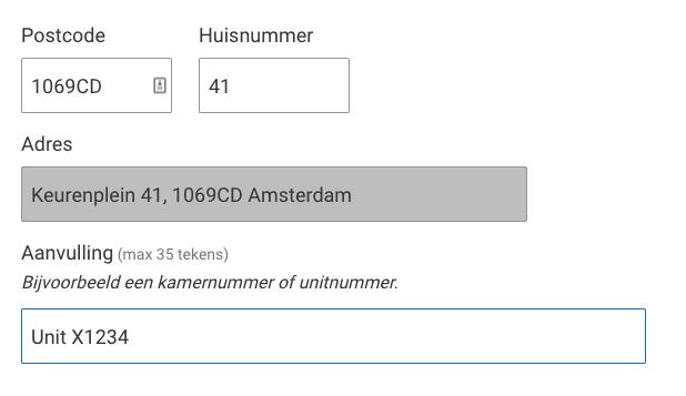 Wijziging adres Amsterdam I