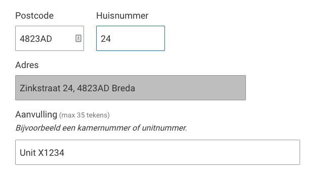 Wijziging adres Breda