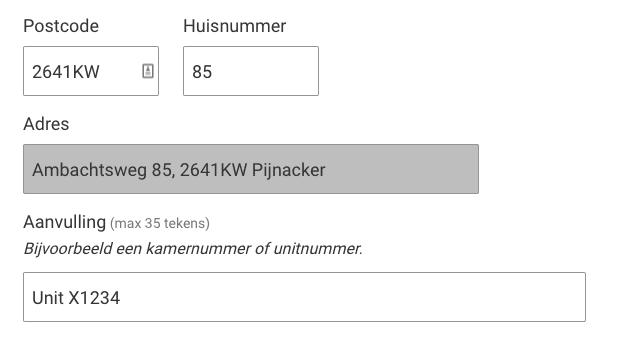 Wijziging adres Pijnacker