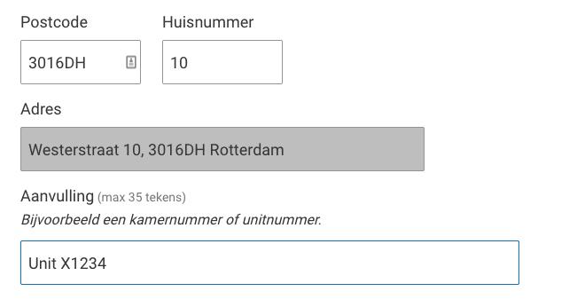 Wijziging adres Rotterdam II
